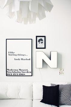 Via Tamalikainenparketti | Warhol poster | Black and White | Typography