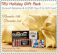 Housewife on a Mission: Holiday Gifting with Hasbro & Duracell   Review + a TRU Holiday Gift Pack Giveaway Courtesy of P&G
