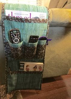 This project would be a great one to create for the man in your life. Sewing Hacks, Sewing Crafts, Sewing Tips, Storage Organization, Organizing, Craft Gifts, Armchair, Arms, Create