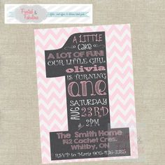 One Year Old Birthday Invite by FrostedandFabulous on Etsy