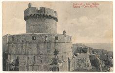 Stare razglednice Dubrovnika - kula Minčeta iz fonda Grafičke zbirke Nacionalne i sveučilišne knjižnice u Zagrebu.