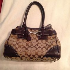 8403ec9ab7 Authentic Coach Hampton handbag in khaki and by WARDROBEcloset Coach Bags  Outlet, Cheap Coach Bags