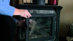 How To Clean Your Wood Stove Fireplace Glass - This works GREAT and is very fast! I usually use a paper towel. Both work wonderfully.