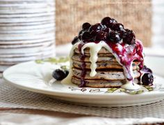These are really for breakfast? Indeed, they are! There are fresh blueberries that are blended into the pancake batter and a low...
