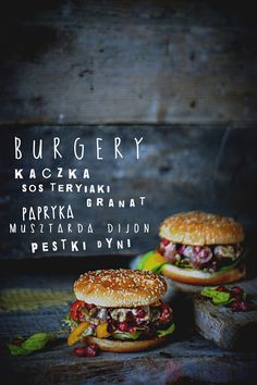 Duck Burgers Recipe (use gluten-free hamburger buns)