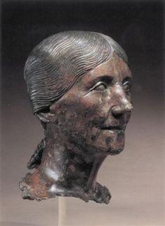 Roman Bronze head of a woman, Augustan or Julio-Claudian, century BC. Ancient Fish, Ancient Rome, Ancient History, Roman Artifacts, Ancient Artifacts, Roman Sculpture, Sculpture Art, Ancient Greek Sculpture, Art Antique
