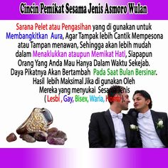 Cincin Pemikat Sesama jenis sarana pemikat khusus untuk cinta sesama jenis, gay, lesbi homo, waria
