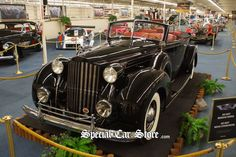 1939 Packard 1707 V-12 Convertible Victoria - Auto Collections Las Vegas 2012. Palatial Parking:  http://specialcarstore.com/content/auto-collections-las-vegas