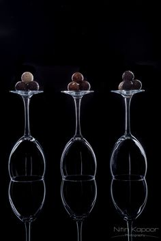 Chocolate Truffles | Chocolate . Schokolade . chocolat | Food. Art + Style. Photography: Food on black by Nitin Kapoor Photography |