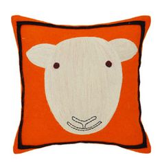 @Overstock - Add this cute sheep pillow to any room for a fun look. This pillow showcases an adorable sheep design and a black border.   http://www.overstock.com/Home-Garden/Orange-Sheep-Wool-Decorative-Pillow/6187919/product.html?CID=214117 $48.99