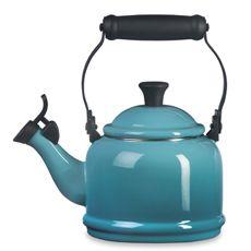 Le Creuset Caribbean Blue Demi 1.25-Quart Whistling Tea Kettle - Bed Bath & Beyond