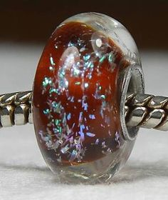BROWN POTPOURRI Authentic Handmade SS Core European Lampwork Glass Beads JS SRA