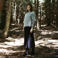 Fashion Story: Run River Isabel Marant / Newit Mohair Pullover Isabel Marant / Kiara Wool Wrap Skirt Robert Clergerie / Natuh Over the Knee Boot