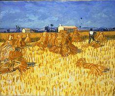 'Harvest in Provence, June 1888' by Vincent van Gogh (1888)