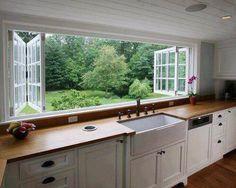 Window view of trees Deco Design, Küchen Design, Design Ideas, Layout Design, Design Trends, Design Inspiration, Tile Design, Graphic Design, New Kitchen