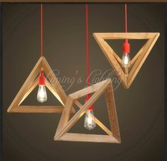 68.00$  Buy now - http://alibvn.worldwells.pw/go.php?t=32611754979 - Nordic Triangle Chandelier Art Cafe Solid OAK Wood Wooden E27 Pendant Lamp Light Creative for Restaurant Home 110V~220V