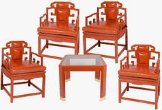 Whether you call it Hermes orange or Tangerine Tango, orange is hot hot hot and a great color to paint that vintage Chinoiserie find. Luxury Furniture, Furniture Design, Furniture Ideas, Classic Furniture, Palm Beach, Oriental Furniture, Orange Furniture, Chinoiserie Chic, Faux Bamboo