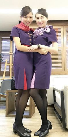 """ he protested angrily, looking up at them from where he was tied up on the floor. The two stewardesses smiled and congratulated each other on bringing a wanted diamonds smuggler to justice! Flight Girls, Girls In Leggings, Cabin Crew, Sexy Stockings, Flight Attendant, Two By Two, Girly, Beautiful Women, Legs"