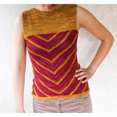 Māia Tee Knitting pattern by Francoise Danoy