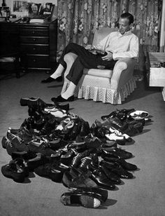 Fred Astaire and his many shoes