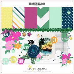 Quality DigiScrap Freebies: Summer Holiday mini kit freebie from Designs by Janka