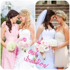 same pose in each other's weddings. BEST FRIEND MUST or sisters!