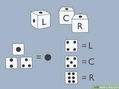 How to Play LCR. Left-Center-Right (LCR) is a fast-paced dice game that is easy to learn and fun to play. With just 3 dice, at least 9 poker chips, and at least 3 players, you can play LCR almost anywhere. Try a game of regular LCR, or mix. Dice Game Rules, Dice Games, Fun Games, Games To Play, Games Box, Family Party Games, Family Game Night, Left Right Center, Game Development Company