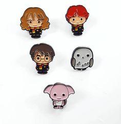 Harry Potter enamel pin set of 5