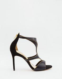 Image 2 ofTed Baker Shyea Leather Caged Heeled Sandals