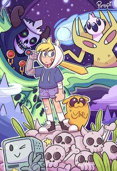 Adventure Time Finn Mertens The Human Jake The Dog The Lich Gunter Orgalorg BMO