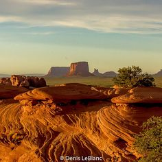 Monument Valley at sunset, viewed from nearby Mystery Valley. Only accessible with a Navajo guide. By Denis LeBlanc (@denis.p.leblanc) on Instagram.