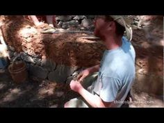 """Cob House Building - How to """"Plumb"""" a Cob Wall - YouTube"""