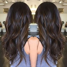 Goodbye summer!! Fall tones are back in season!!! Dark & rich brunette sombre... @sheenax214