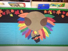 My Thanksgiving bulletin board! Students will write one word answers for what they are thankful for!