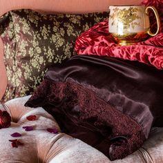 Bella Notte Decorative Boudoir Pillow Colette Satin Jacquard