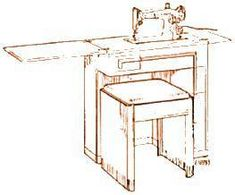 Singeru0027s Cabinet Number 42 For Model 15, 201, And 301 Sewing Machines.