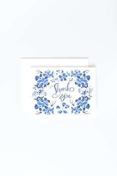 """A fun floral """"Thank You"""" card. Made in the USA Blank inside x Envelope included Thank You Greetings, Thank You Cards, Wild Flowers, Envelope, Greeting Cards, Thankful, Floral, Fun, Appreciation Cards"""