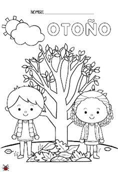 Actividades para Educación Infantil: Fichas para colorear las Estaciones del año Preschool Classroom, Preschool Learning, Craft Activities For Kids, Kindergarten, Family Crafts, Christmas Crafts For Kids, Baby Learning, Art For Kids, Homeschool