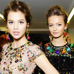 Aren't they beautiful? I love their hair; it's pulled back, but the volume/shine in the front is phenom.