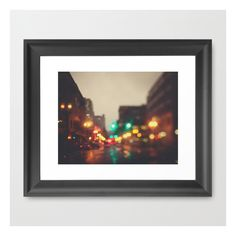 Portland In The Rain Framed Art Print ($40) ❤ liked on Polyvore featuring home, home decor, wall art, framed art prints, framed abstract wall art, landscape wall art, abstract home decor, black home decor and black framed wall art