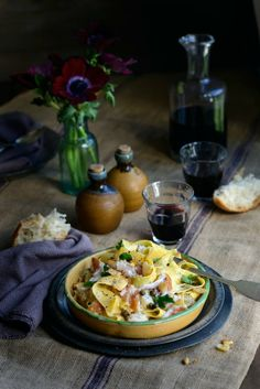 From The Kitchen: Creamy Italian Smoked Fish Pappardelle with Garlic, Parsley, Lemon and Capers
