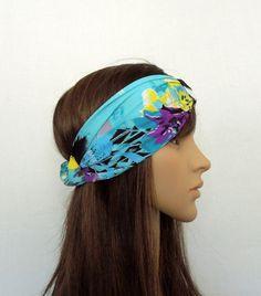 Colorful Teal Turban by AurellaBlue on Etsy, $13.00