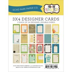 Scrapbookdepot - Echo Park Memo Cards 3x4inch - For The Record