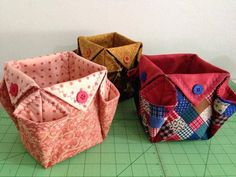craft kits for kids to buy - craft kits for kids . craft kits for kids diy . craft kits for kids to buy . craft kits for kids gift Fabric Crafts, Sewing Crafts, Sewing Projects, Diy Crafts, Fabric Origami, Origami Box, Fabric Boxes, Fabric Storage, Sewing Baskets