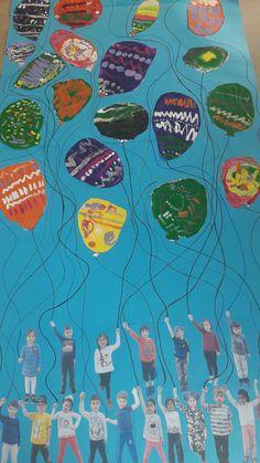 Desenli balonlar. 4 yaş yaratıcı sanat etkinlikleri