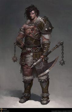 Human Fighter - Pathfinder PFRPG DND D&D d20 fantasy