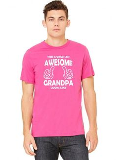 this is what an awesome grandpa looks likewhite Tshirt