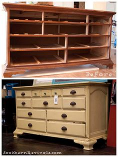 """a great blog about turning old furniture into """"new"""" furniture...great for garage sale finds!"""