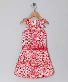 So adorable!  Red Adelle Dress - Infant, Toddler & Girls.  Watch your little fashion maven shine in this ultra cute Aussie-inspired dress.  Go Sheila!