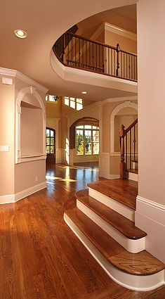 European Design Flooring is a family owned and operated full service floor covering provider specializing in wood flooring. Located in Phoenix, AZ. Dream House Interior, Luxury Homes Interior, Dream Home Design, Modern House Design, My Dream Home, Home Interior Design, Staircase Design, House Rooms, Stairs